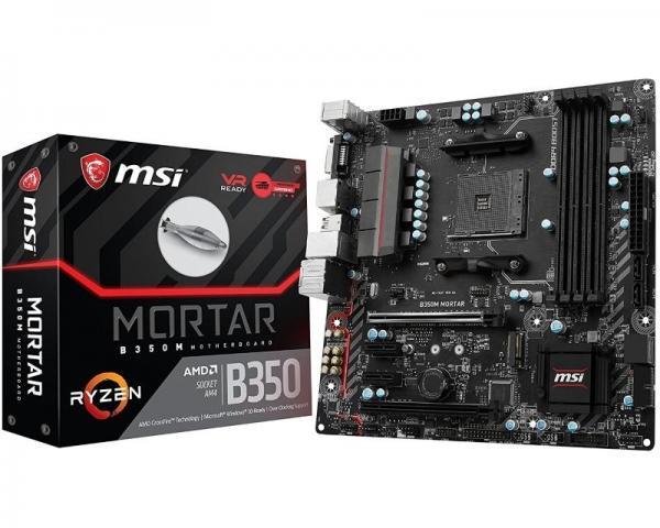 MSI B350M MORTAR + MSI Interceptor DS B1 gaming miš