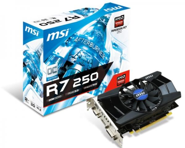 MSI AMD Radeon R7 250 2GB 128bit R7 250 2GD3 V1