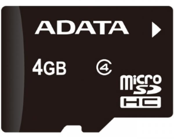 A-DATA MicroSDHC 4GB class 4 AUSDH4GCL4-R