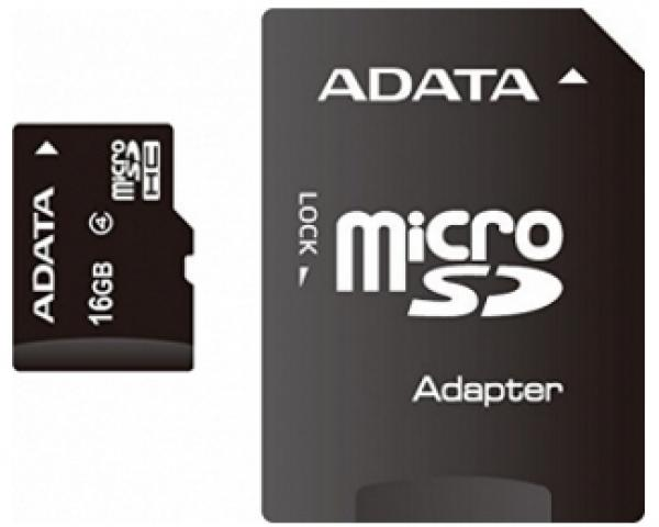 A-DATA MicroSDHC 16GB class 4 + adapter AUSDH16GCL4-RA1