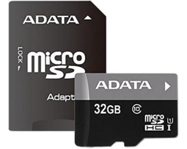 A-DATA UHS-I MicroSDHC 32GB class 10 + adapter AUSDH32GUICL10-RA1