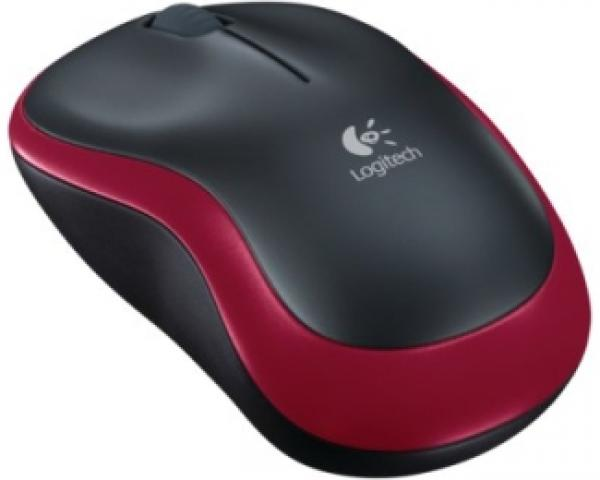 LOGITECH M185 Wireless crveni miš Retail