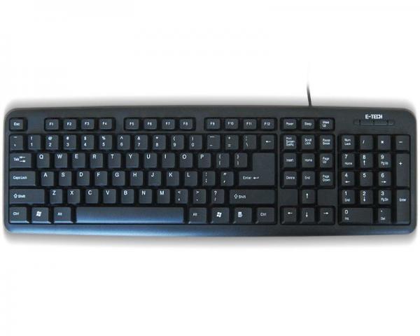 ETECH E-5050 USB YU crna tastatura