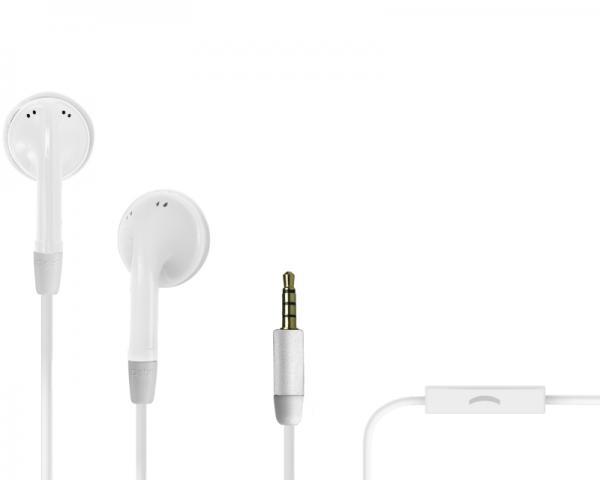 SBS Slušalice sa mikrofonom za mobilne uređaje Duo bele TE0SSE41W
