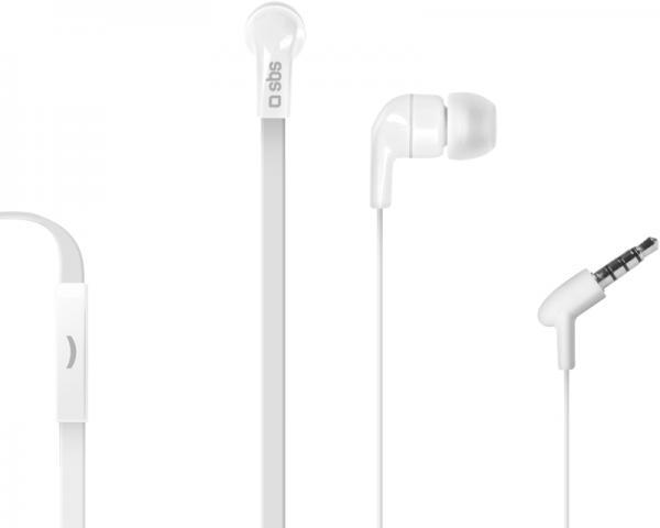 SBS Slušalice sa mikrofonom za mobilne uređaje StudioMix 30 bele TEFLAT2INEARW