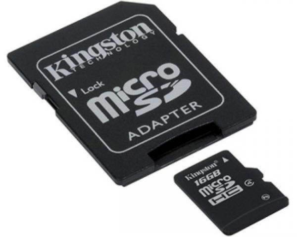 KINGSTON MicroSDHC 16GB class 4 + adapter SDC4/16GB