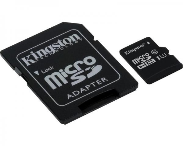KINGSTON UHS-I MicroSDXC 128GB class 10 + adapter SDC10G2/128GB