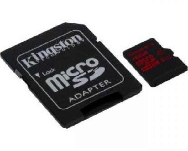 KINGSTON UHS-I U3 MicroSDXC 64GB + Adapter SDCA3/64GB
