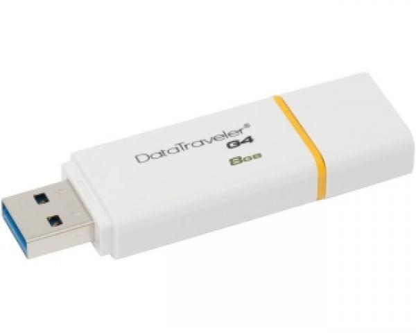 KINGSTON 8GB DataTraveler I Generation 4 USB 3.0 flash DTIG4/8GB žuto-beli