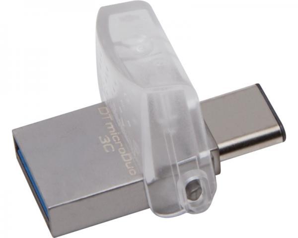 KINGSTON 64GB DataTraveler MicroDuo 3C USB 3.1 flash DTDUO3C/64GB srebrni