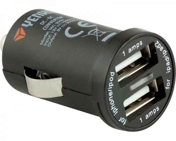 YENKEE YAC 2002 2000mAh automobilski USB punjac crni