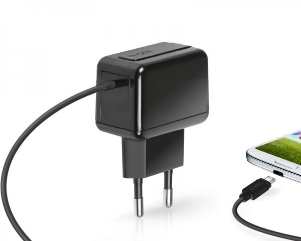 SBS Punjač za mobilne uređaje sa kablom 500mAh micro USB crni TETRAVMICRO1L