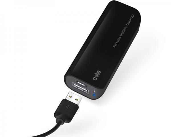 SBS Prenosni punjač USB 2.200mAh crni TEBB2200K