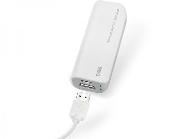 SBS Prenosni punjač USB 3.000mAh beli TEBB30001UW