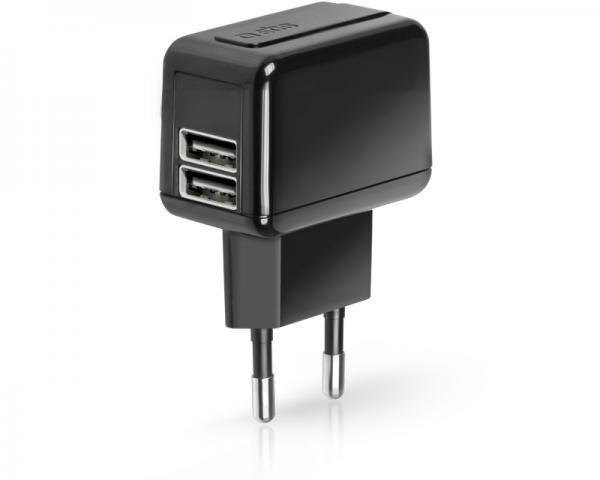 SBS Punjač za mobilne uređaje bez kabla 1000mAh 2xUSB crni TETRAV2USB1A