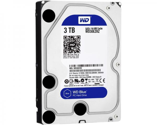 WD 3TB 3.5 SATA III 64MB 5.400rpm WD30EZRZ Blue