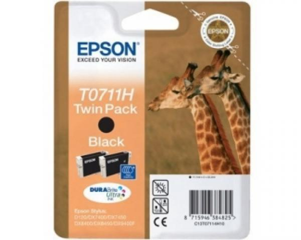 EPSON T0711H Twin pack crni kertridž