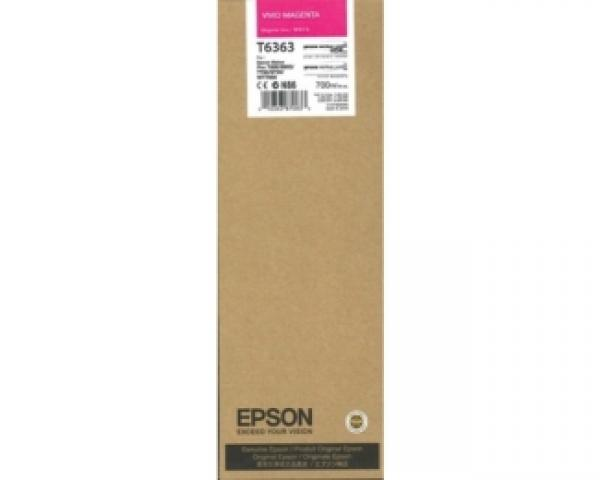 EPSON T6363 UltraChrome HDR vivid magenta 700ml kertridž