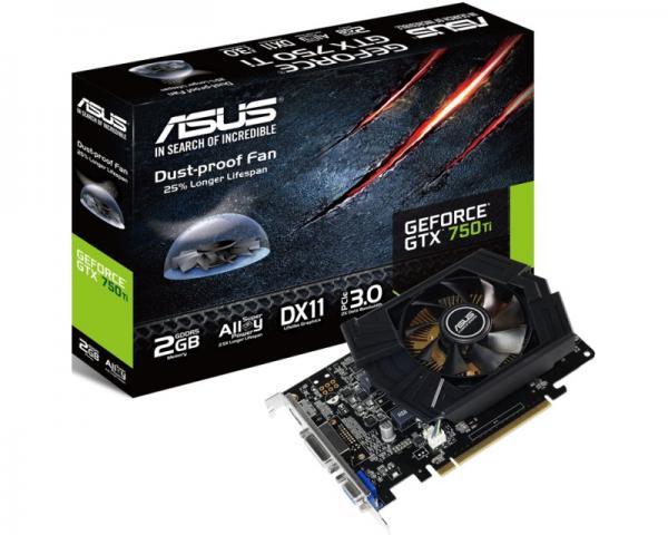 ASUS nVidia GeForce GTX 750 Ti 2GB 128bit GTX750TI-PH-2GD5
