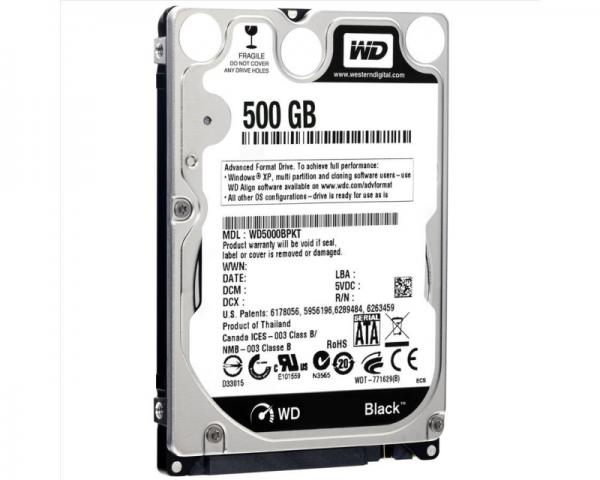 WD 500GB 2.5 SATA III 16MB 7.200rpm WD5000BPKX Black