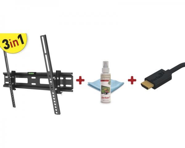 BARKAN CM310.B LCD TV zidni nosač do 56 + Cleaner + HDMI kabl