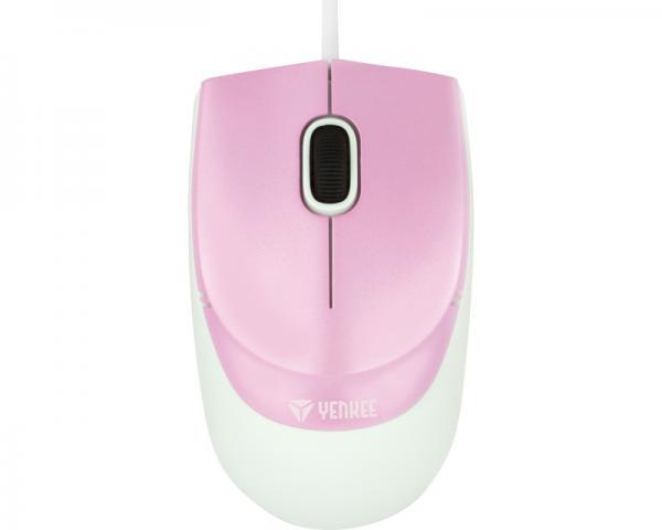 YENKEE YMS 1005PK Rio USB Optical pink-beli miš