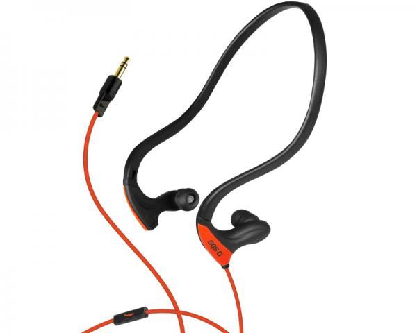 SBS Slušalice sa mikrofonom za mobilne uređaje Sport Runway PRO crno-narandžaste TESPORTEARSETO