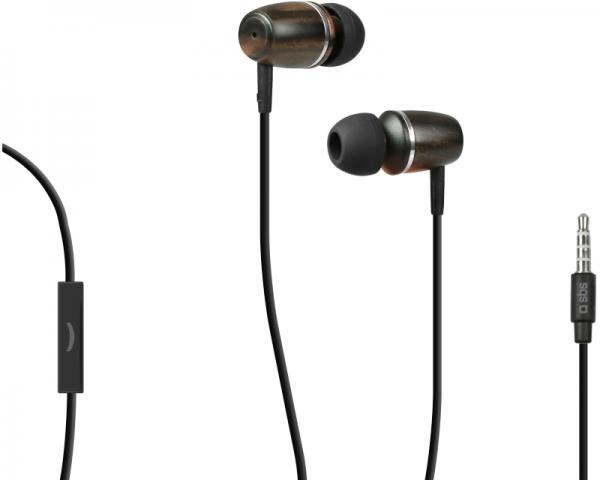 SBS Slušalice sa mikrofonom za mobilne uređaje StudioMix 60 drvo TTEARSETWOODK