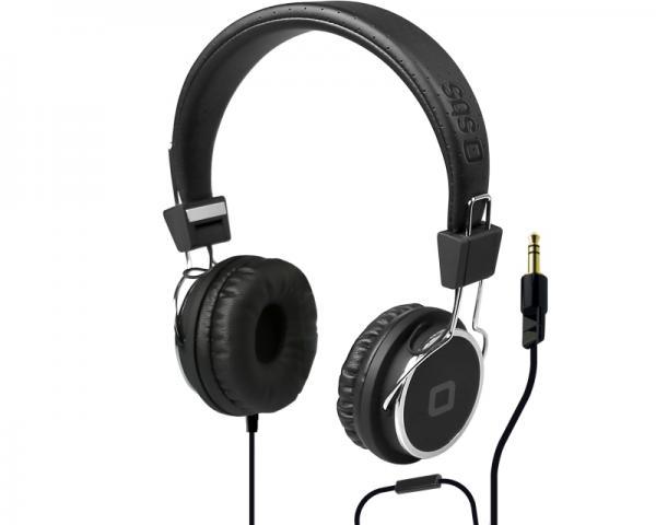 SBS Slušalice sa mikrofonom za mobilne uređaje StudioMix DJ PRO crne TTHEADPHONEDJK