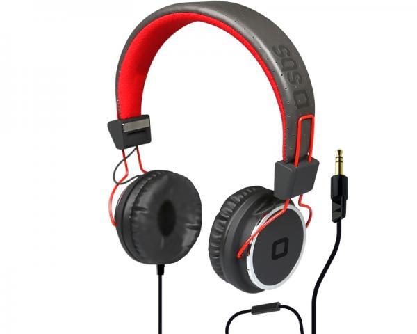 SBS Slušalice sa mikrofonom za mobilne uređaje StudioMix DJ PRO crvene TTHEADPHONEDJR