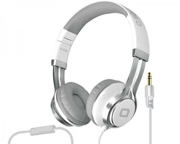 SBS Slušalice sa mikrofonom za mobilne uređaje StudioMix DJ EVO bele TTHEADPHONEDJEVO