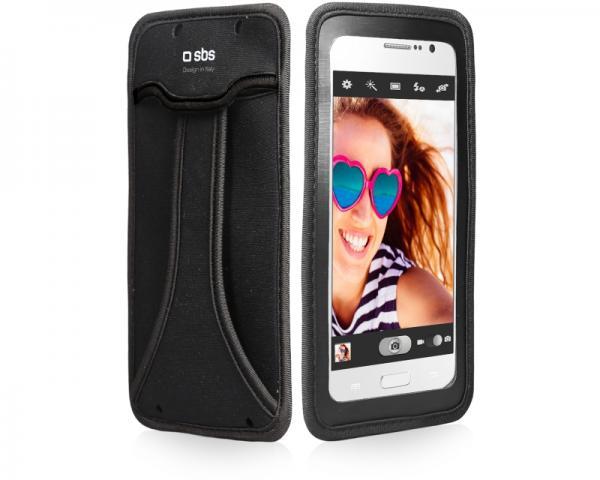SBS Futrola za mobilni telefon selfie do 5 crna TEHANDYXLK