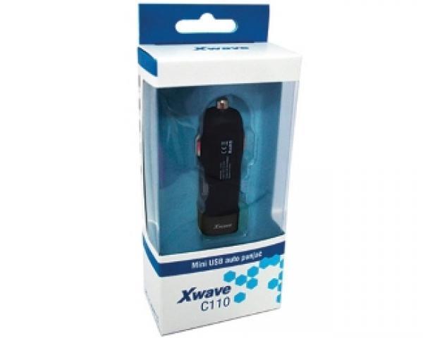 XWAVE C110 automobilski USB punjač crni