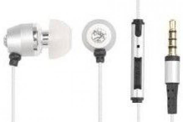 A4-iP-1000S IBudsTalk - Element Ti Titanium Microphone & volume control Sophisticated crystal embed