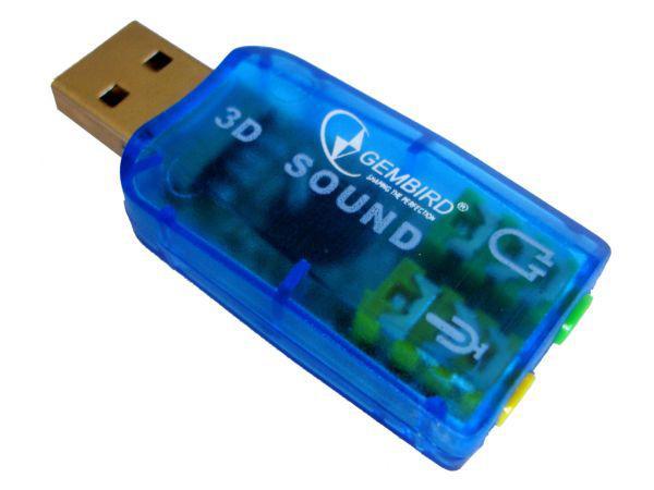 CMP-SOUNDUSB13 ** Gembird USB 5.1 3D zucna karta, zamenjuje audio kontrolora u racunaru (272)