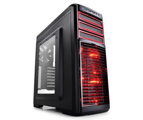 DeepCool KENDOMEN RD Gaming ATX-kuciste, 5x LED 120mm FanControl, USB3.0/audio/mic, Tool Free