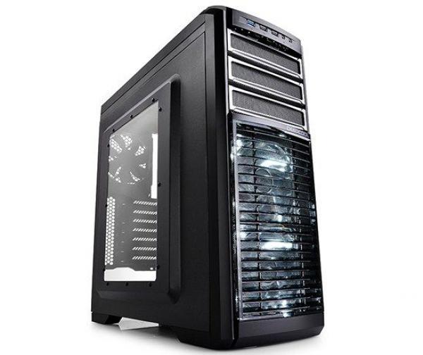 DeepCool KENDOMEN TI Gaming ATX-kuciste, 5x LED 120mm FanControl, USB3.0/audio/mic, Tool Free