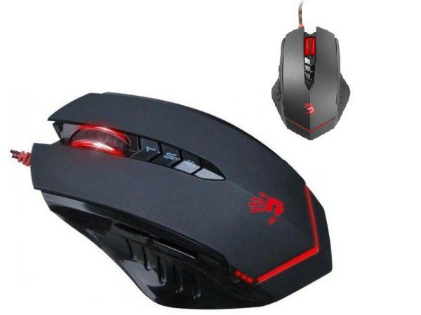 A4-V8M Multi-Core Gun3 Gaming Mouse, 1000Hz/200-3200 Dpi, Black, USB