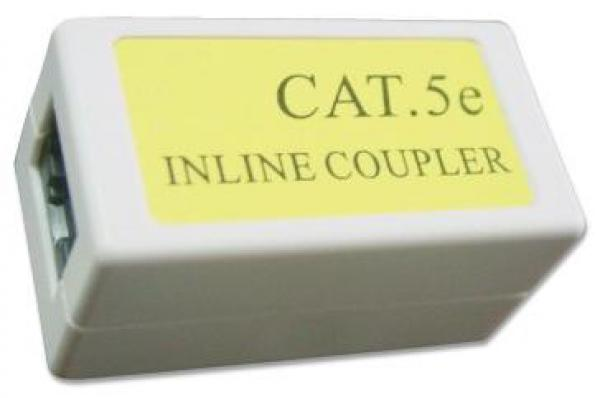 NCA-LC5E-001 Gembird Cat.5E LAN coupler white color