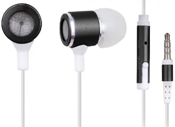 MHS-EP-001 Gembird Metal MP3 slusalice sa mikrofonom black (1x3,5mm)