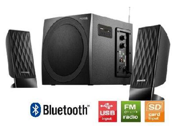 Microlab M-300BT Drveni zvucnici 2.1  38W RMS(14W,2x12W) SD, USB, FM, BLUETOOTH, black, 3.5mm