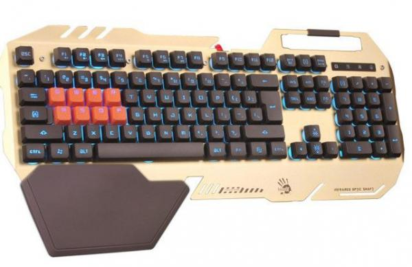 A4-B418 Bloody gaming keyboard, Letter LED(Multi Color) 8 LK Mehanickih tastera