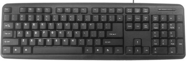 KB-U-103 Gembird Standardna tastatura US layout black USB