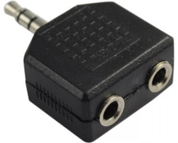 FAST ASIA Adapter audio 3.5mm - 2x3.5mm crni