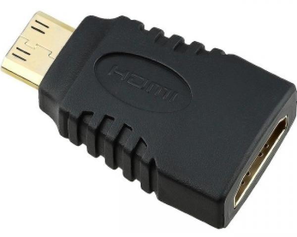 FAST ASIA Adapter Mini HDMI (M) - HDMI (F) crni