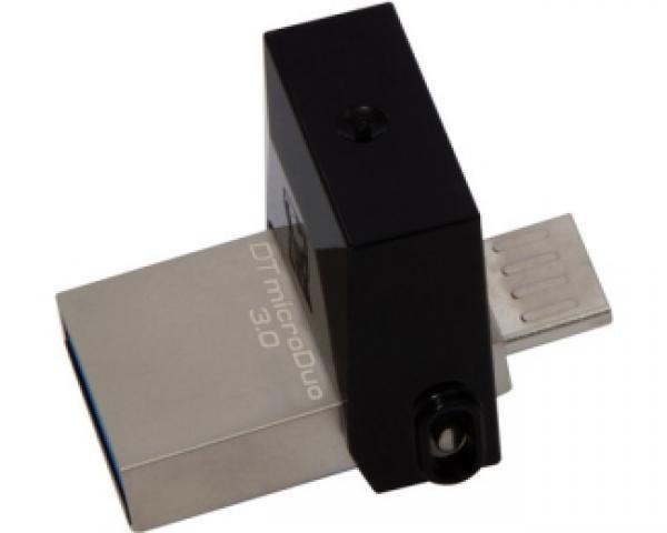 KINGSTON 64GB DataTraveler MicroDuo USB 3.0/USB OTG flash DTDUO3/64GB crni