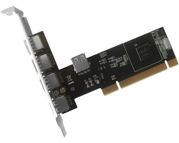 JAVTEC PCI kontroler 4xUSB 2.0 + 1x USB 2.0