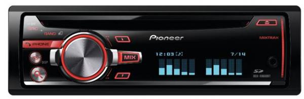 AUTO RADIO Pioneer  DEH-X8600BT  radiobluetoothzadnji USBCDMP3
