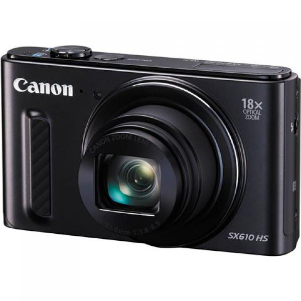 FOTOAPARAT CANON PowerShot SX610 HS black-WiFi,NFC