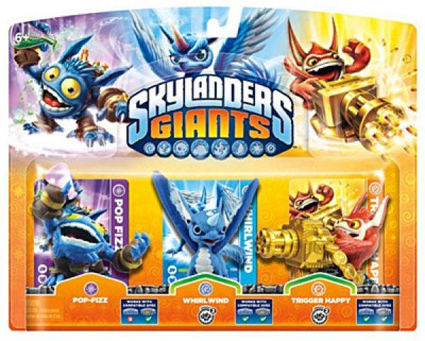 Skylanders GIANTS Triple Pack A (Pop Fizz + Trigger Happy + Whirlwind)